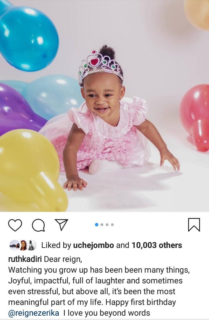 Ruth Kadiri-Ezerika releases new photos of her daughter to mark her first birthday