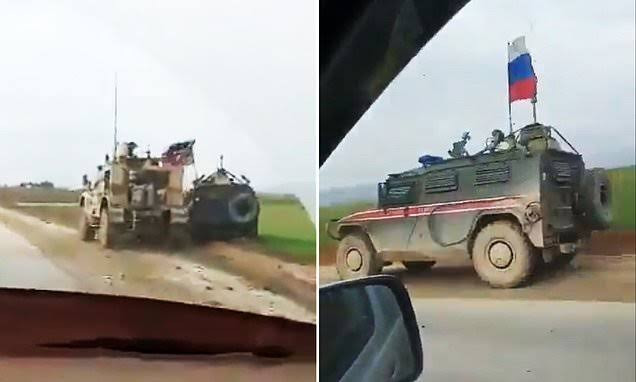 Syria war: Russian and US blame each other after their military vehicles collide injuring American troops