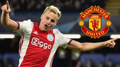 Manchester United sign Ajax midfielder Donny van de Beek for £35m