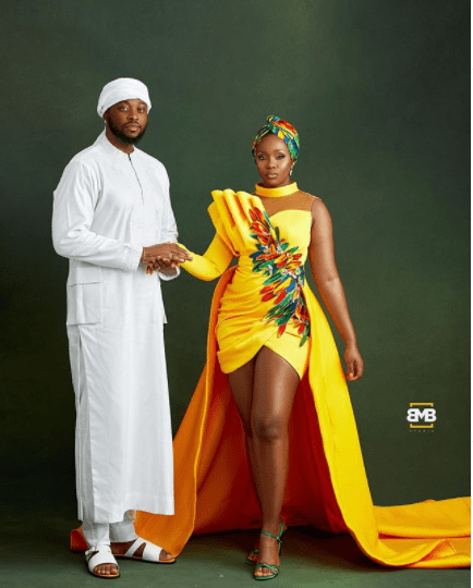 BBNaija couple, Teddy A and Bam Bam celebrate 1st anniversary of their traditional wedding