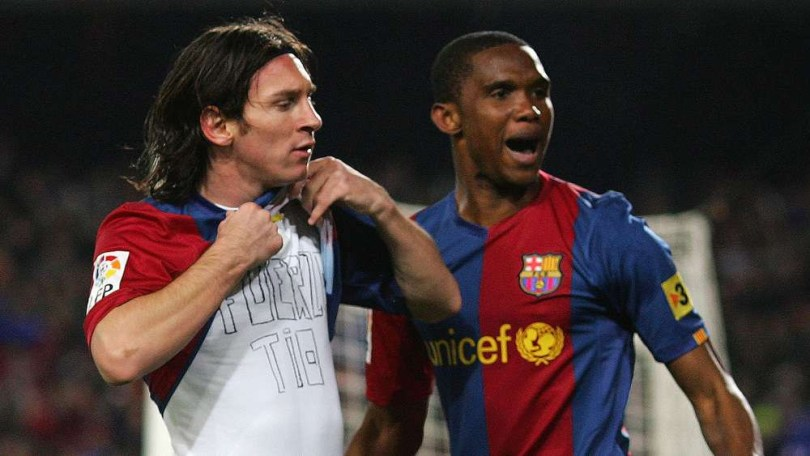 ?I am happy because my son Messi has stayed at his house - Samuel Eto?o delighted with Messi?s decision to stay at Barcelona