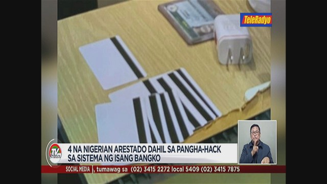 Update: Video of the four Nigerian nationals arrested in Philippines for alleged involvement in syndicate that hacks, siphons funds from banks
