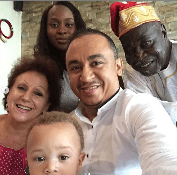 Daddy Freeze shares photos of his family after being called a b*stard by Pastor Ibiyeomie