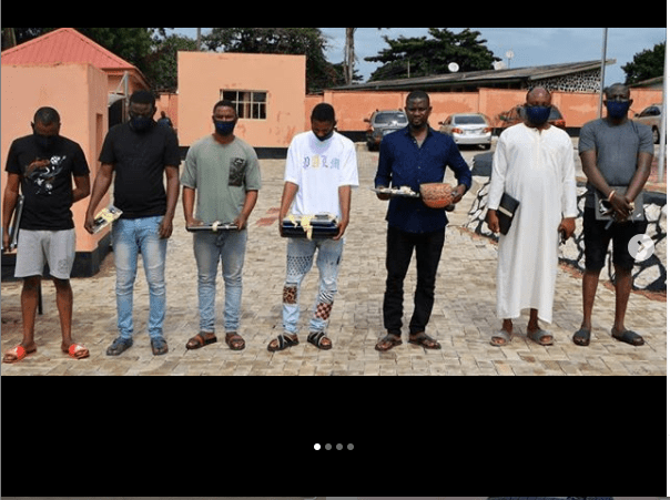EFCC arrests two pairs of brothers and three others for alleged Internet Fraud In Ibadan (Photos)