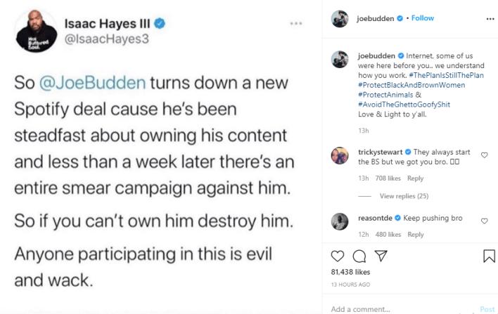 Joe Budden reacts to ex-girlfriend, Cyn Santana