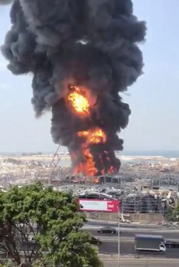 Massive fire erupts in Beirut port area, one month after huge explosion killed over 200 people (Photos/Videos)