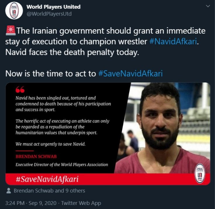 Iraan executes Olympic champion wrestler Navid Afkari despite global outcry and pleas