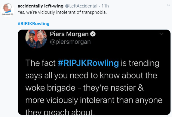 RIP JK Rowlings trends as the author