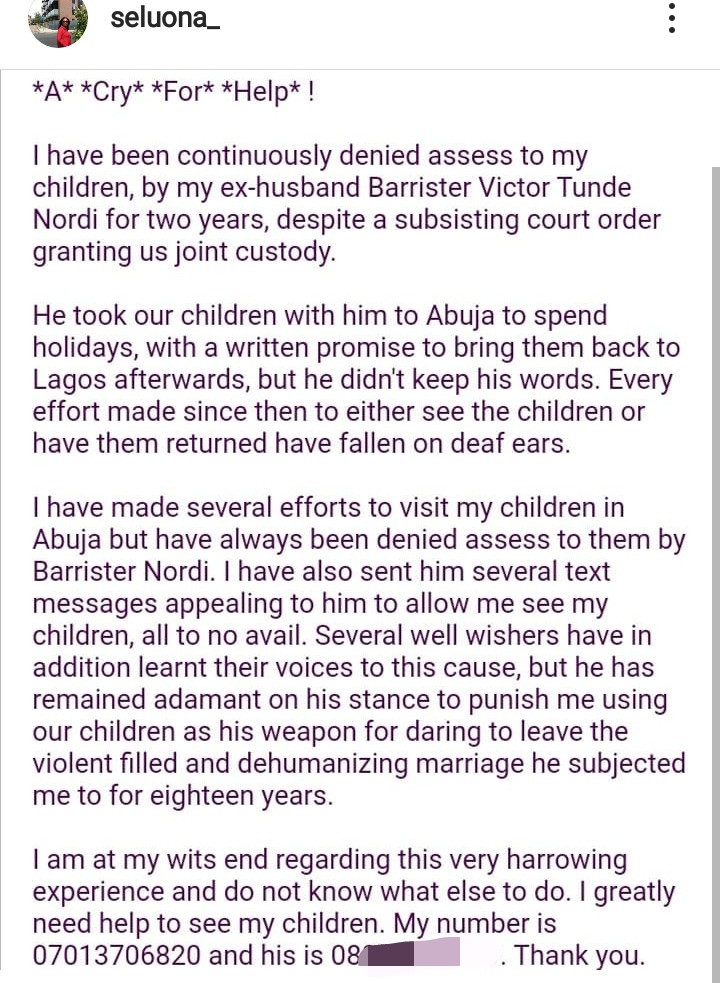 Mum-of-three cries out as she accuses her ex-husband of abducting their kids and denying her access to them for two years