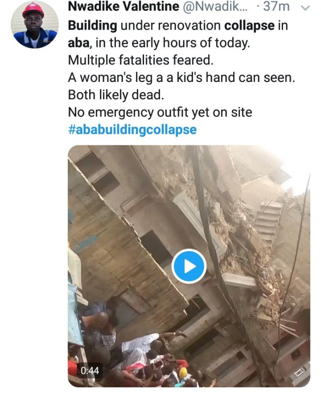 At least four dead, more feared trapped as building under construction collapses in Aba (photos/video)