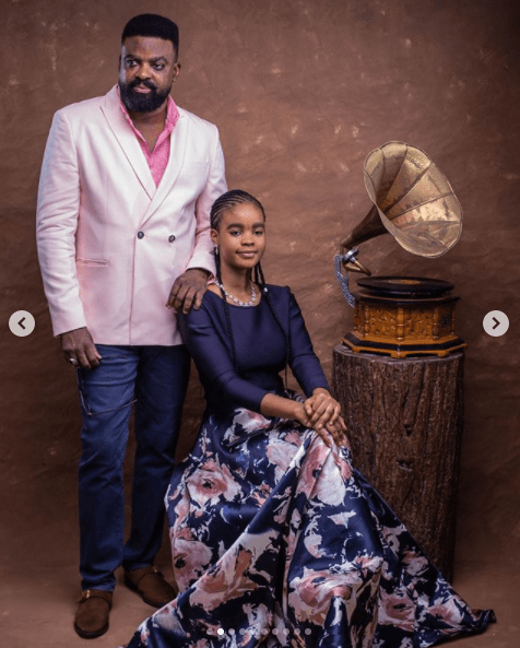 Kunle Afolyan shares lovely photos of him and his kids as he celebrates his daughter, Eyiyemi