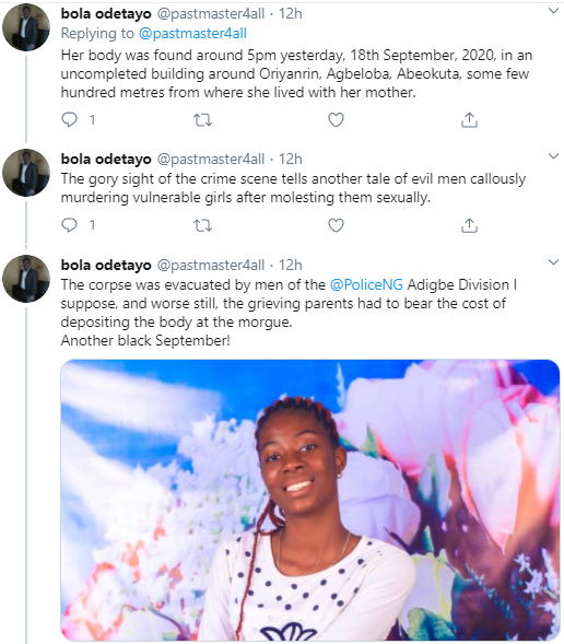 Missing 14 year-old girl is allegedly found raped and murdered in Ogun State