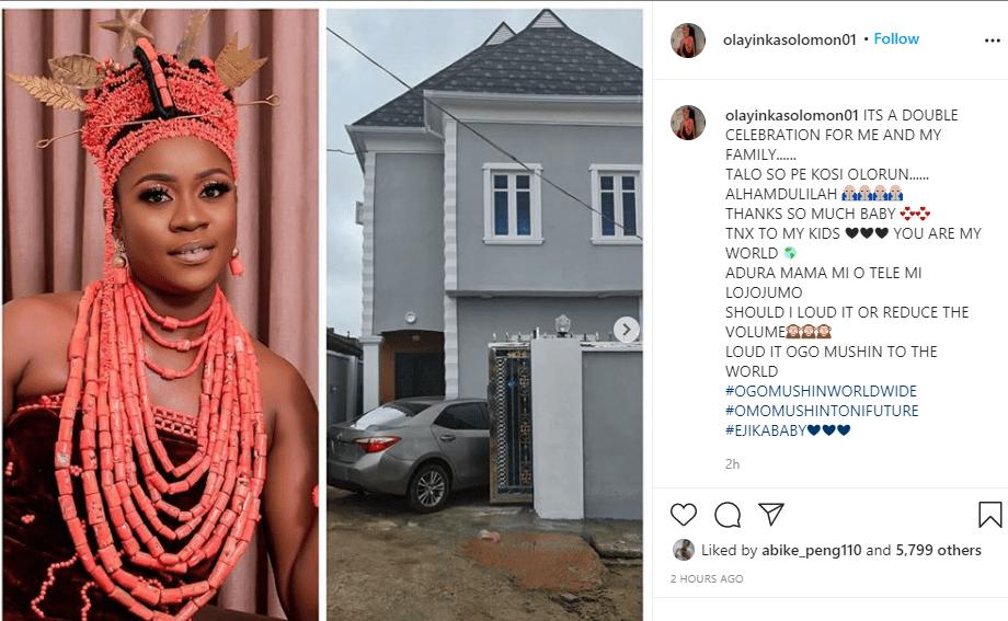 Actress Olayinka Solomon shows off her new home in Lagos (photos)