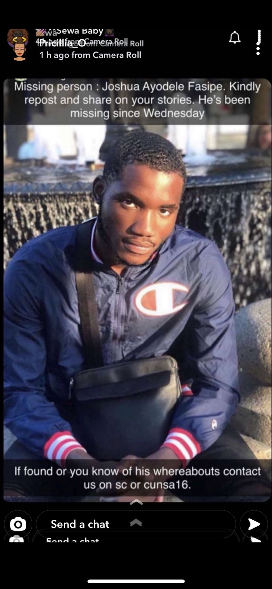 Young Nigerian man declared missing in Canada