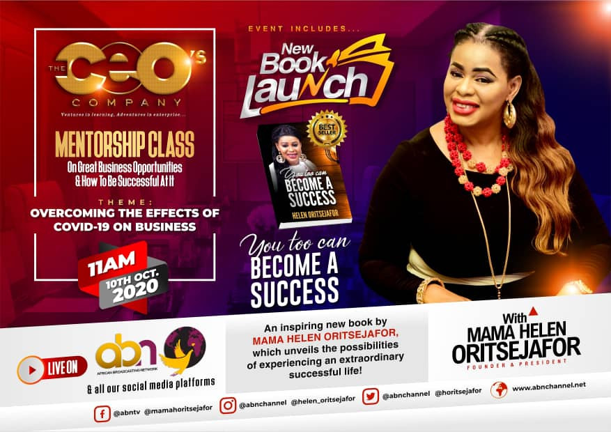 Oritsejafor sets the pace to unveiling secrets to succeeding during a Global Economic Hitch with release of new book and mentorship class