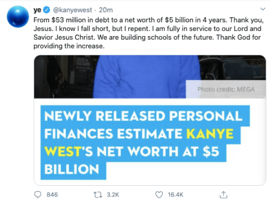 Kanye West accused of lying about his billionaire status after he claimed he