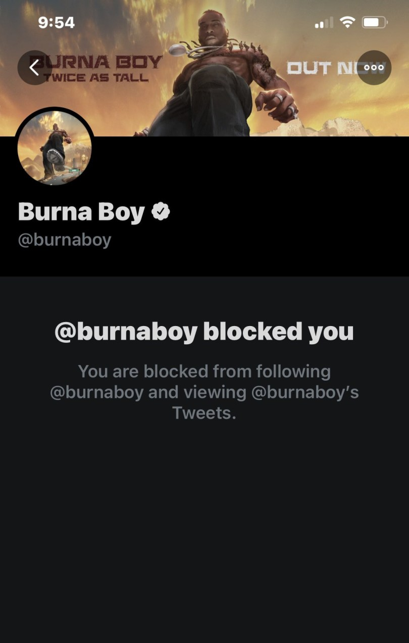 Media personality, Shade Ladipo mocks Burna Boy after he blocked her for saying he