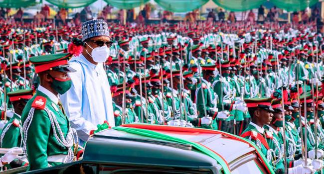 Buhari attends Passing Out Parade of 67 Cadets in Kaduna lindaikejisblog 2