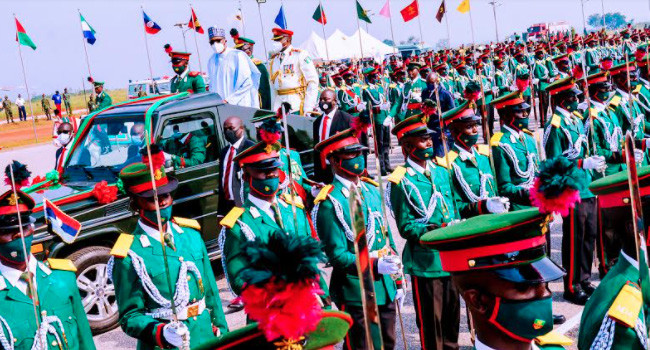 Buhari attends passing out parade of 67 cadets in Kaduna (photos)
