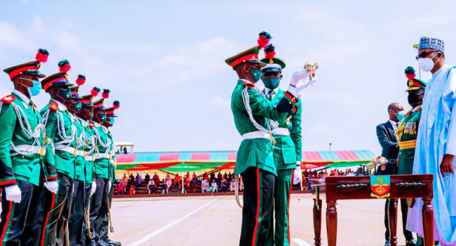 Buhari attends Passing Out Parade of 67 Cadets in Kaduna lindaikejisblog