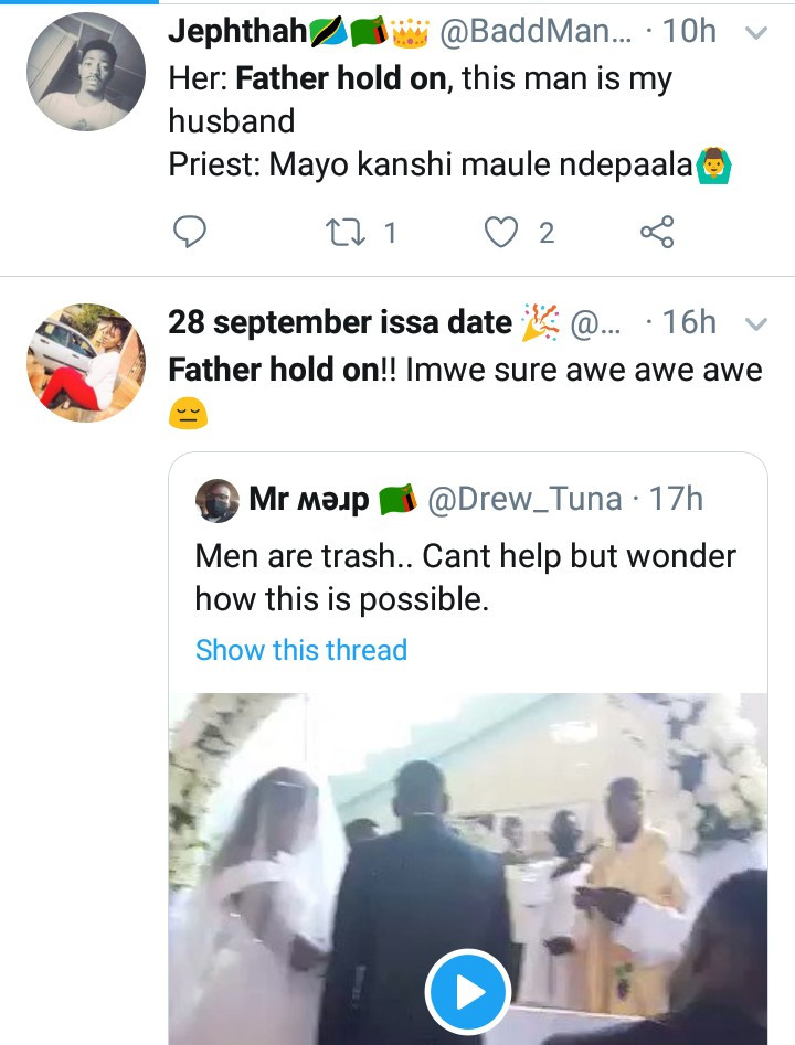 Woman disrupts wedding in Catholic church; claims groom is her husband and they slept together only hours earlier (video)