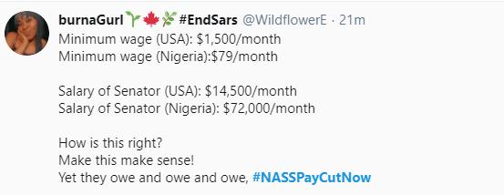 #NASSPayCutNow trends as Nigerians demand a slash in lawmakers salaries