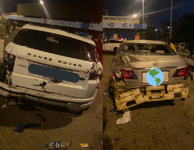 Cars destroyed as #EndSARS protesters were allegedly attacked at Lekki toll gate