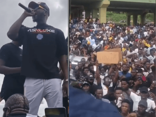 Singer, Kizz Daniel leads #EndSARS protest in Abeokuta days after being called out for staying mute about the campaign (video)