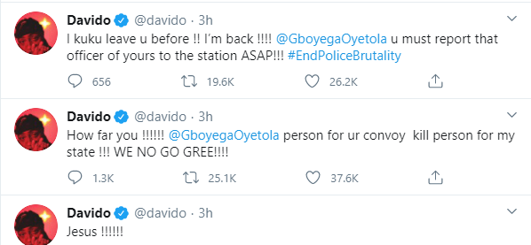 You have failed the people of Osun - Davido calls out Governor Oyetola over death of two #EndSARS protesters lindaikejisblog 1