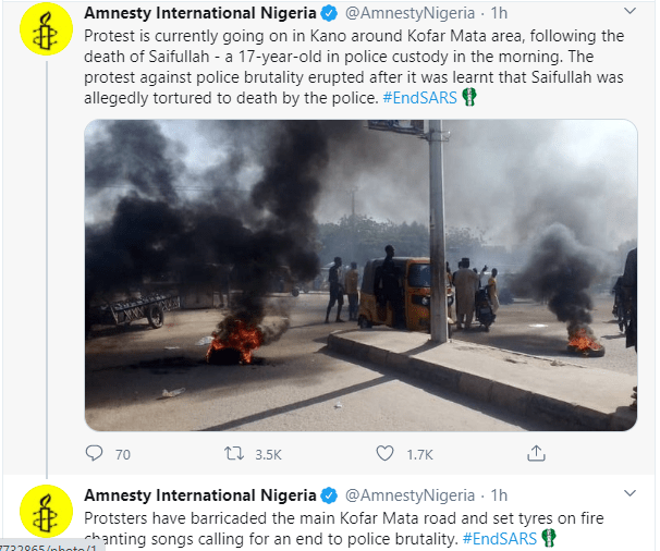 Protest erupts in Kano over the death of 17-year-old boy in police custody
