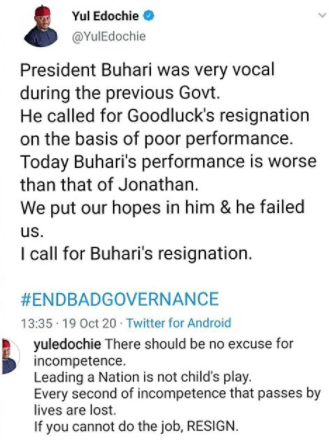 Actor Yul Edochie calls for President Buhari
