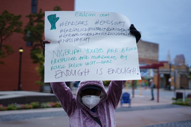 Nigerians stage #EndSARS protest in Ohio, Rome, Texas, others (photos)
