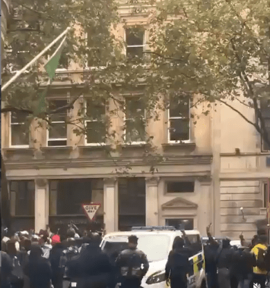 Nigerian flag pulled down from Nigerian High Commission in UK (video)