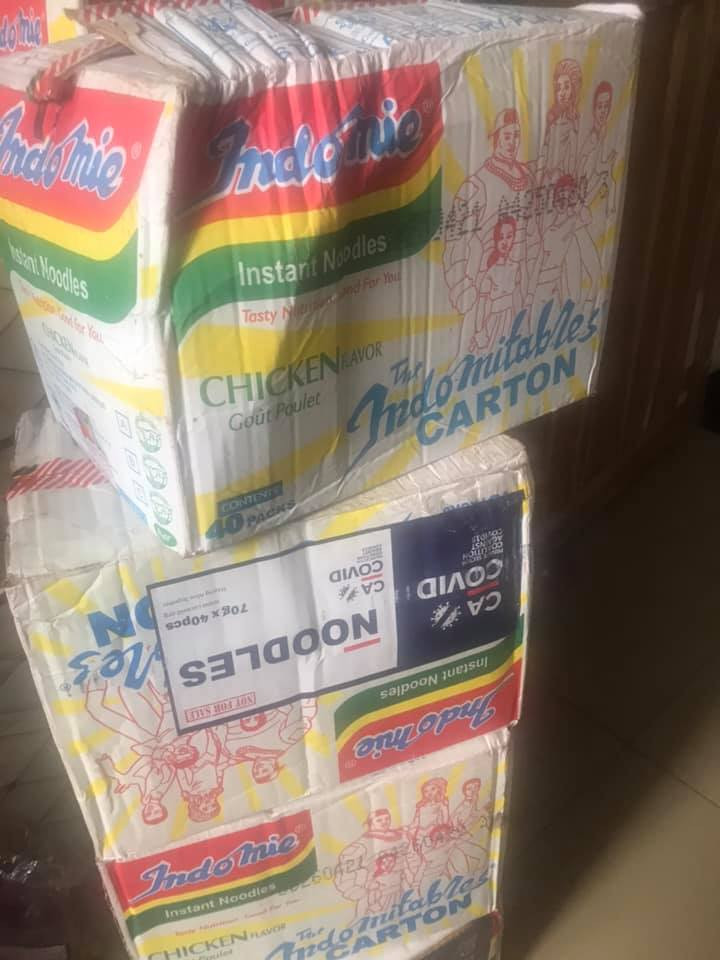 Gunshots fired at warehouse in Maza-Maza area of Lagos State where hoodlums broke into and carted away COVID-19 palliatives; see photos of some of the items