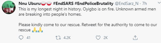 #OyigboIsBleeding trends as residents cry out that unknown armed men have been breaking into people