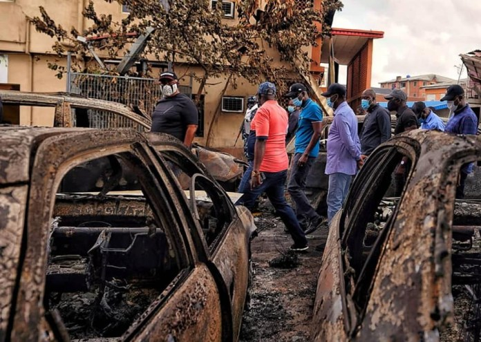 Gov Sanwo-Olu visits different places destroyed during the chaos in Lagos (photos)