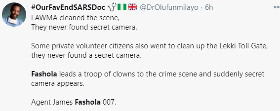 Funny reactions to Fashola's discovery of a secret camera at the Lekki tollgate 7