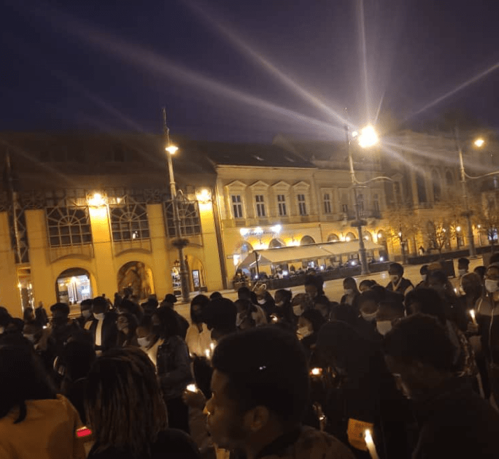 End SARS candlelight procession holds in Hungary to mourn those killed during the End SARS protests (photos)