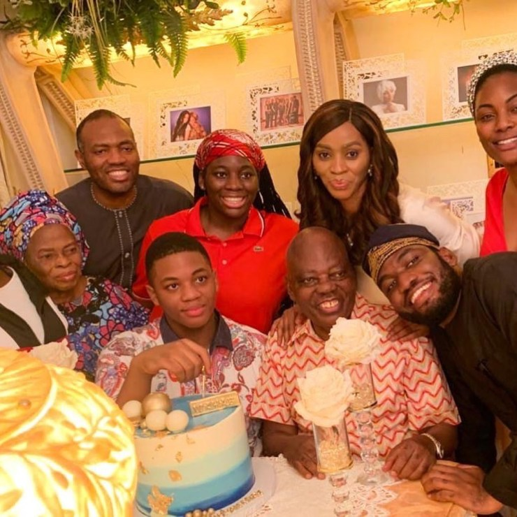 Shade Okoya celebrates her son as he turns 14 (photos)