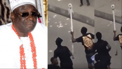 Oba of Lagos' staff of office mysteriously reappears (video)