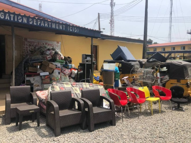 144 suspected looters arrested in Kwara, items recovered (photos)