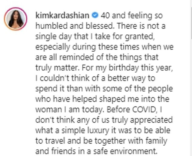 """This is insensitive!"" Kim Kardashian is slammed for bragging about her lavish tropical 40th birthday vacation with her family and friends amid global pandemic"