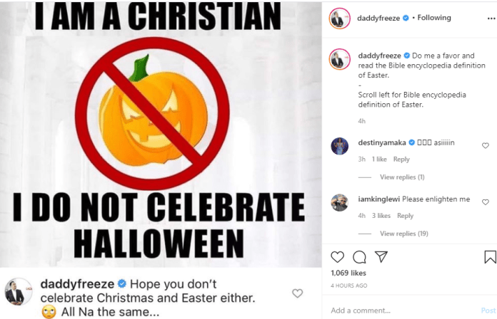 Halloween, Christmas and Easter are all the same ? Daddy Freeze
