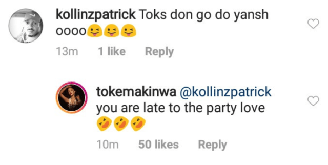 Toke Makinwa responds to follower who commented that she had butt surgery