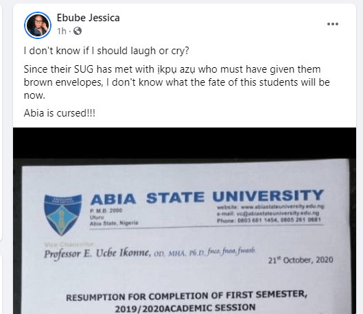 ABSU students asked to pay