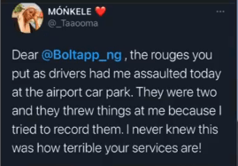 Instagram comedienne, Taaoma narrates how she was allegedly assaulted by a Bolt driver