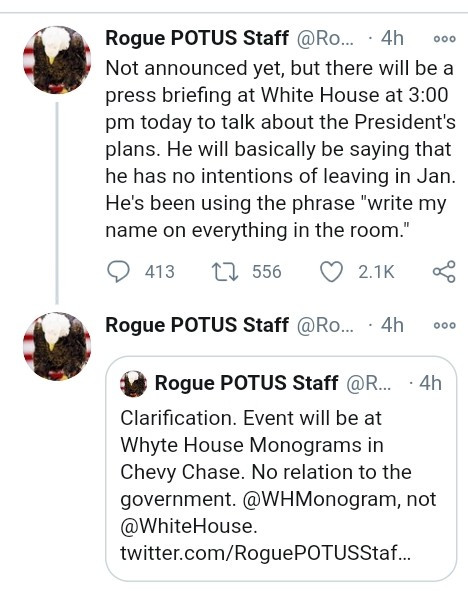 """Trump ?won?t leave White House in January and?has told aides to write his name on everything"""" - Rogue staffer claims"""