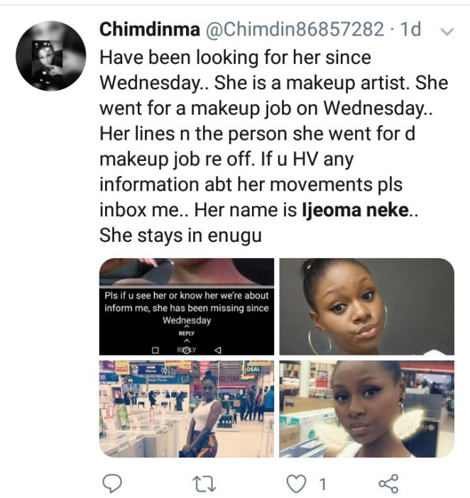 Makeup artist who went missing after leaving home for a job is found dead in Enugu
