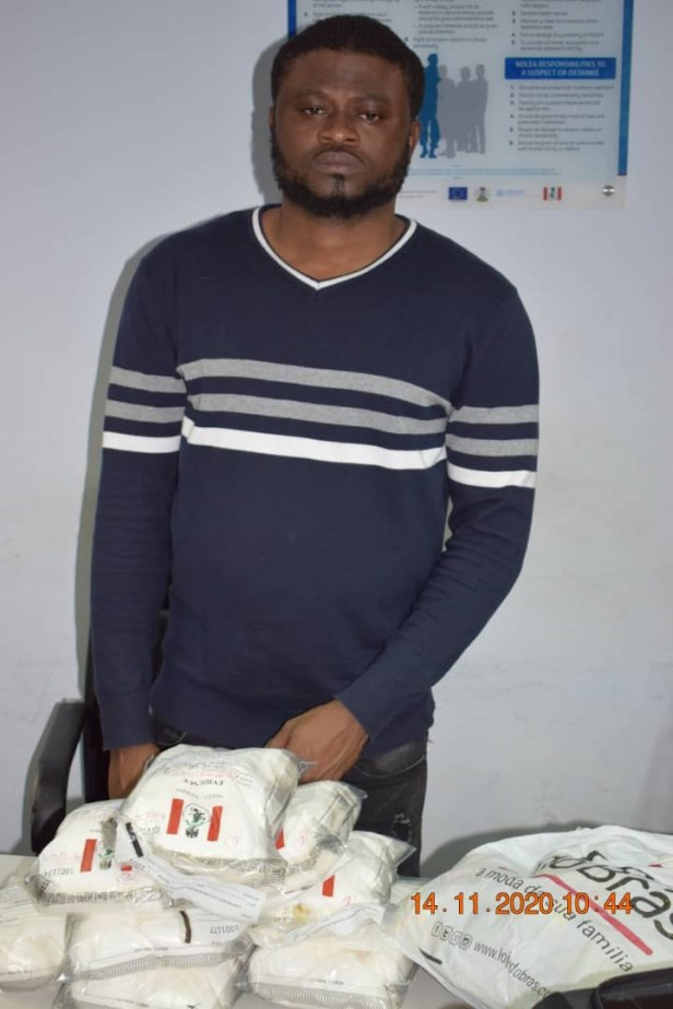 NDLEA nabs Brazil returnee with 12.05kg high-grade cocaine at Abuja airport