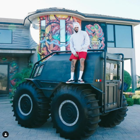 Kanye West gifts Chris Brown a luxury tank truck